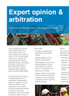 Expert Opinion and Arbitration - Brochure