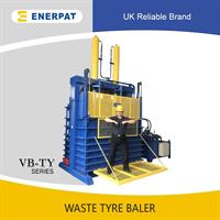 Enerpat - Model VB-150TY - Waste Truck Tyre Baler,tyre baling machine,tyre baling press