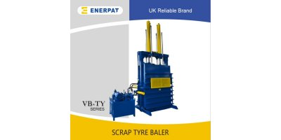 ENERPAT - Model VB-100TY - Tire Baler,tire baling machine,tire baling press