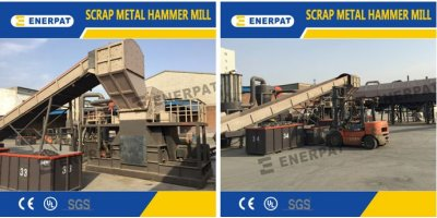 Enerpat - Model KSS300 - Scrap Metal Hammer Mill (5T/H)
