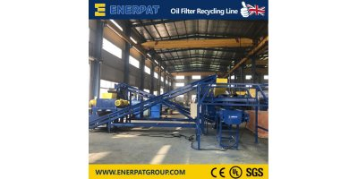 Complete Oil Filter Recycling Line