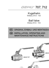 GEMÜ - Model 707 - Manually Operated Ball Valve - Instructions Manual