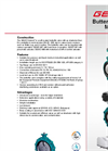 GEMÜ - Model 487 - Soft Seated Butterfly Valve - Datasheet
