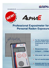 AlphaE - Ultra Small Continuous Radon Monitor for Professional Use Datasheet