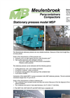 Stationary Waste Compactors MSP 1500- Brochure