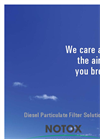Notox - Diesel Particulate Filter Solutions - Brochure