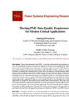 Meeting PMU Data Quality Requirements for Mission Critical Applications Webinar Brochure