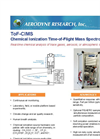 Aerodyne - Model ToF-CIMS - Chemical Ionization Time-of-Flight Mass Spectrometer Brochure