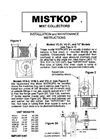 Mistkop Operating & Maintenance Manual- Brochure