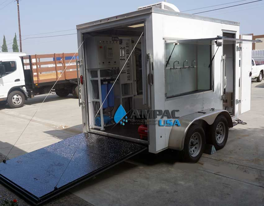 Ampac - Model TR-3000 - Mobile Trailer Reverse Osmosis System 3,000 GPD - 11.4mm³/hr.