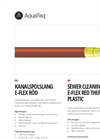 Model E-Flex RED - Thermoplastic Sewer Cleaning Hose- Brochure