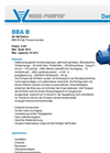 Model BBA B - High Pressure Pumps  Brochure