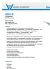 Model BBA B - Jet Pump Brochure