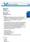 Model BBA B - Sludge Pump  Brochure