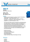 Model BBA-B - Waste Water Pump Brochure