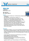 Model BBA BA - High-Flow Pumps Brochure