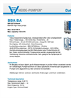 Model BBA-BA - High-Head Pumps Brochure