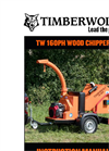 Model TW 160PH - Road Towable Hydraulic Chippers Brochure