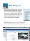 Fleet Management Product Sheet