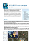 Geospatial Extensions for ESRI Product Sheet