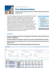 Cost Administration Product Sheet