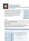 Capital Budgeting Product Sheet