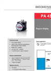 PA 430 Plug-On Display for the Current Loop with Contacts - Datasheet
