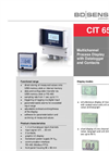 CIT 650 Multichannel Process Display 96 x 96 mm Datalogger and Contacts - Datasheet