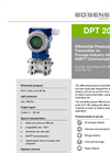 DPT 200 Stainless Steel Sensor for Process, Oil and Gas Industry - Datasheet