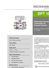 DPT 100 Stainless Steel Sensor for Test Engineering, Machine and Plant Engineering - Datasheet