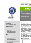 DM 01 Stainless Steel Sensor for Test and Calibration Equipment - Datasheet