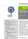 DL 01 Stainless Steel Sensor for Leak Testing, Pipeline Monitoring - Datasheet