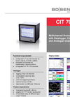 CIT 700 - Multichannel Process Display 96 x 96 mm Datalogger, Contacts and Analogue Outputs - Datasheet