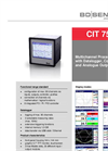 CIT 750 Multichannel Process Display 144 x 144 mm with Datalogger, Contacts and Analog Outputs - Datasheet