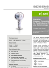 X|ACT I Stainless Steel Diaphragm, Flush Hygienical Application Pressure Transmitter - Datasheet