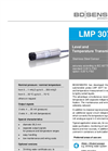 LMP 307T Stainless Steel Sensor and Probe Ø - Datasheet