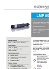 LMP 808 Stainless Steel Sensor and Separable Plastic Probe Ø 35 - Datasheet