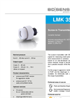 LMK 351 Ceramic Sensor for Flush Environmental Industry, Renewable Energy - Datasheet