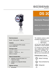 DS 202 Stainless Steel Sensor, Welded for Medical Technology, Oxygen Application - Datasheet