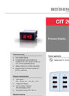 CIT 200 Process Display 72 x 36 mm - Datasheet