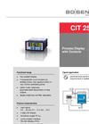 CIT 250 Process Display 72 x 36 mm with Contacts - Datasheet