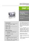 DMP 334 Stainless Steel Sensor, Welded for Plant and Mechanical Engineering - Datasheet