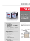 CIT 400 Process Display 72 x 72 mm with Contacts and Analog Output - Datasheet