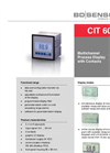 CIT 600 Multichannel Process Display 96 x 96 mm with Contacts - Datasheet