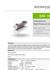 DAC 120 Dynamic Pressure Measurements for Extreme Pressure Peaks - Datasheet