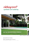 Nidagreen - Synthetic Turf Underlay - Brochure