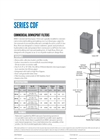 Model Series CDF - Commercial Downspout Filter Specification Sheet