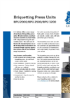 BPU 2000/BPU 2500/BPU 3200 Briquetting Press Units Brochure