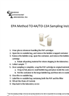 EPA M ethod TO - 4A/TO - 13A Sampling Instructions- Brochure