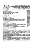 Model DF-60810DE (220V) Digital Flow Meter Environmental Air Sampler Brochure